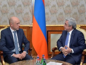 Armėnijos Prezidentas priėmė Lietuvos specialiųjų tyrimų tarnybos vadovą