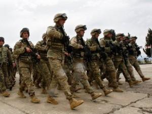 Gruzija, Armėnija ir Lietuva bendrose karinėse pratybose Gudauryje